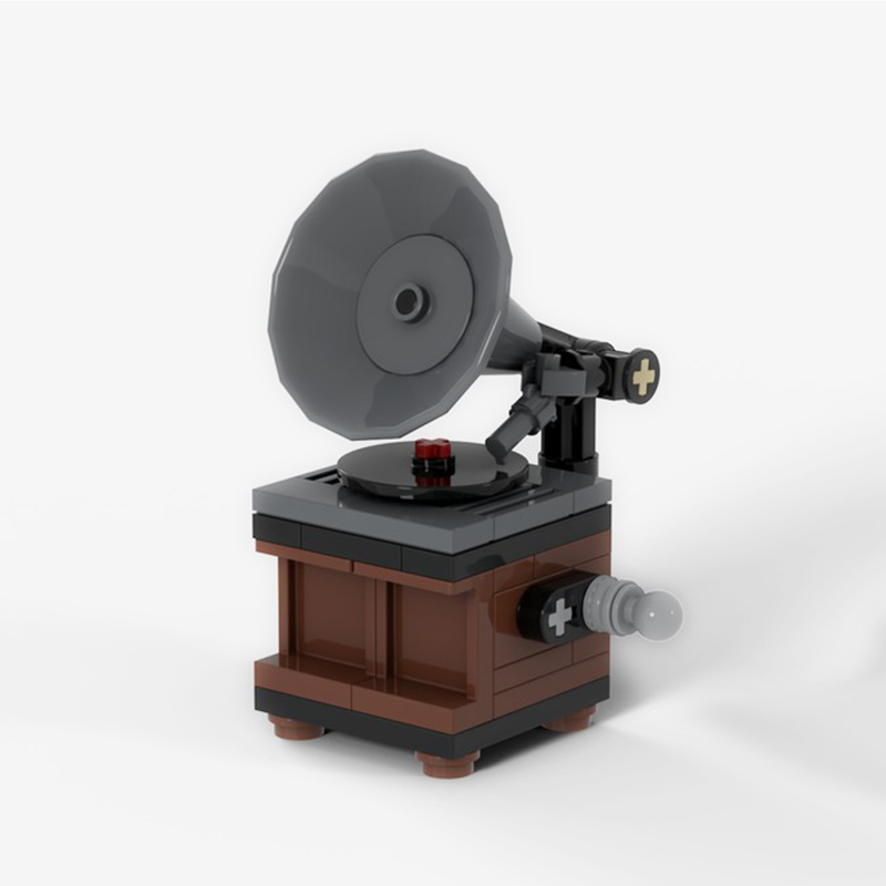 MOC-19960 Vintage Record Player
