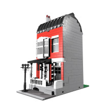 Building MOC Red Town House MOC-10374