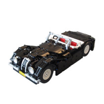 Technic MOC Classic Jaguar Roadster RC version MOC-10803