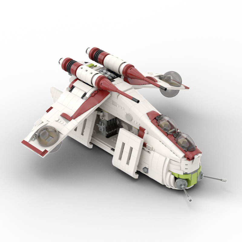 Star Wars MOC Republic Gunship based set 75021 MOC-35919