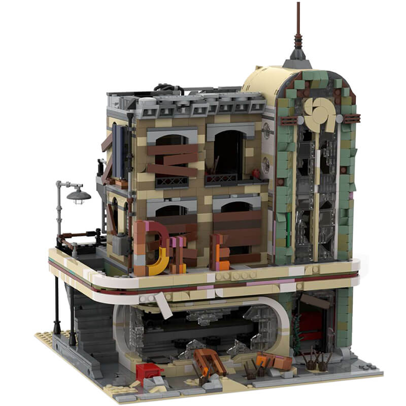 Building MOC Downtown Diner - Apocalypse Version MOC-40173