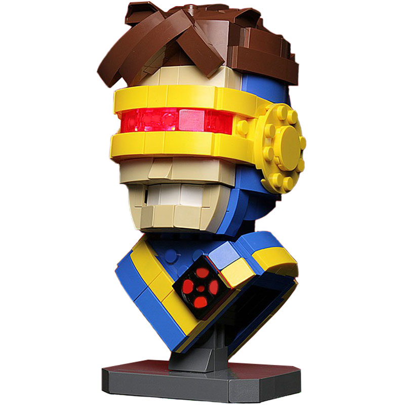 Super Hero MOC Custom Cyclops Bust MOC-13639