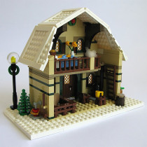 MOC-10631 Winter Barn House