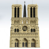 MOC-43974 Notre Dame de Paris - Modular Building Dimension