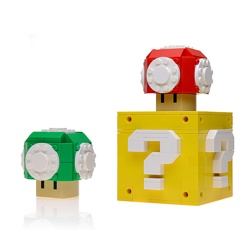 MOC-15826 Custom Power Up Mushrooms and Question Box