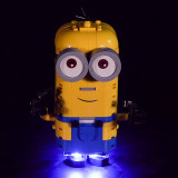 Brick-built Minions and their Lair #Lego Light Kit for 75551