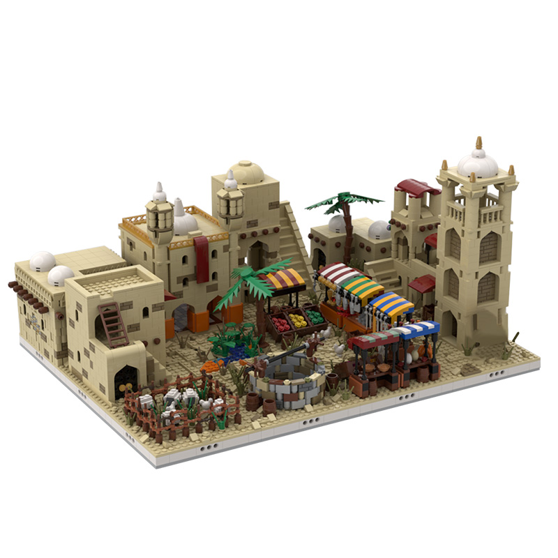 MOC-32630 Desert Village | build from 12 different mocs