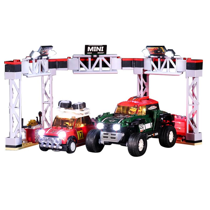 1967 Mini Cooper S Rally and 2018 MINI John Cooper Works Buggy #Lego Light Kit for 75894
