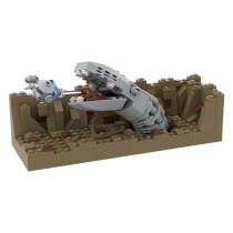 MOC-42513 Escape The Space Slug-Nano Falcon-Episode V