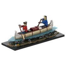 MOC-39640 Voyageurs Automaton - Paddling a Canoë