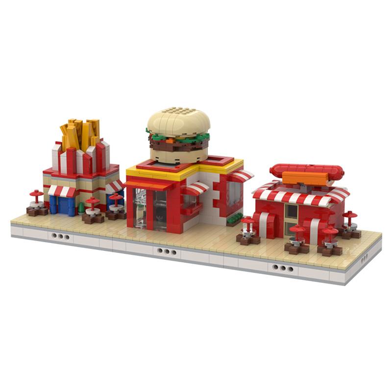 MOC-51649 Fast Food mini modular ZOO