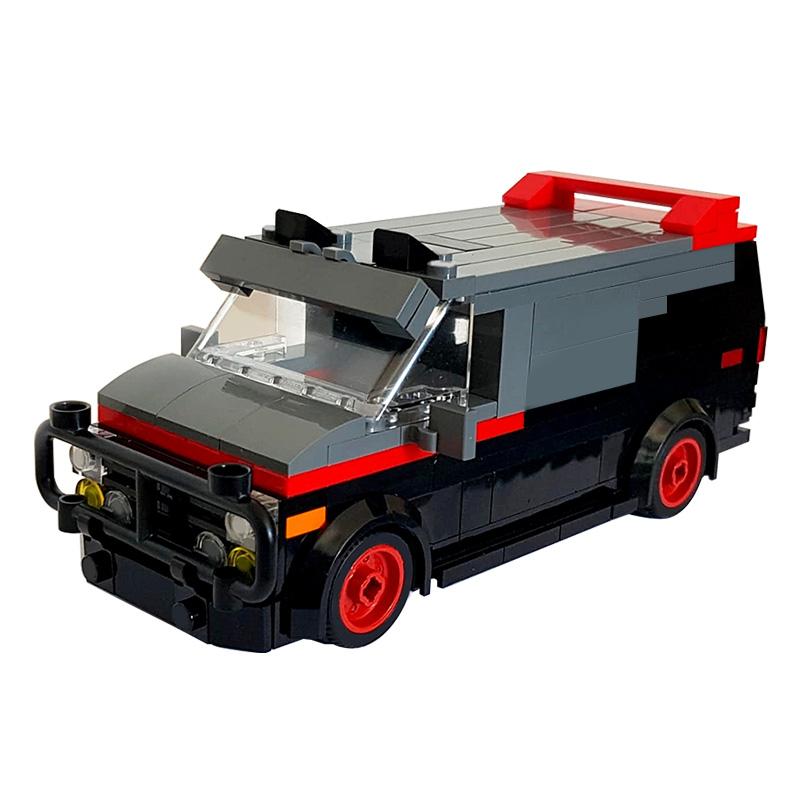 MOC-24285 A-Team Van in minifig scale