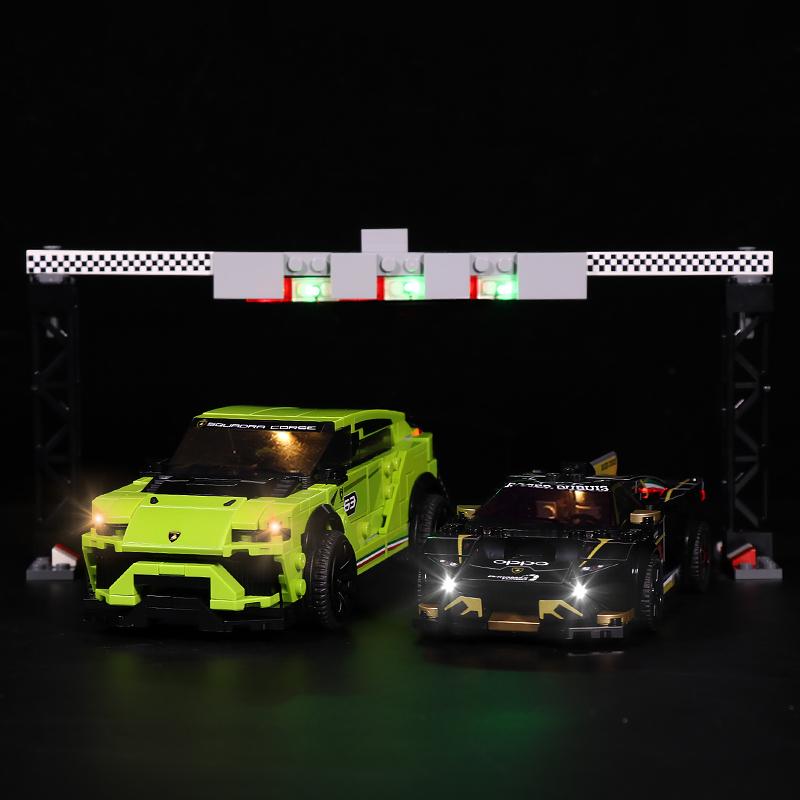 Lamborghini Urus ST-X & Huracán Super # Lego Light Kit for 76899
