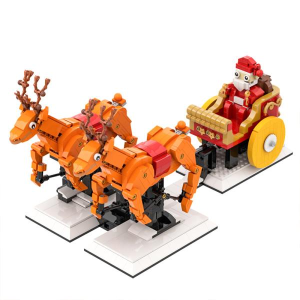 Santa's sleigh with 2 reindeer