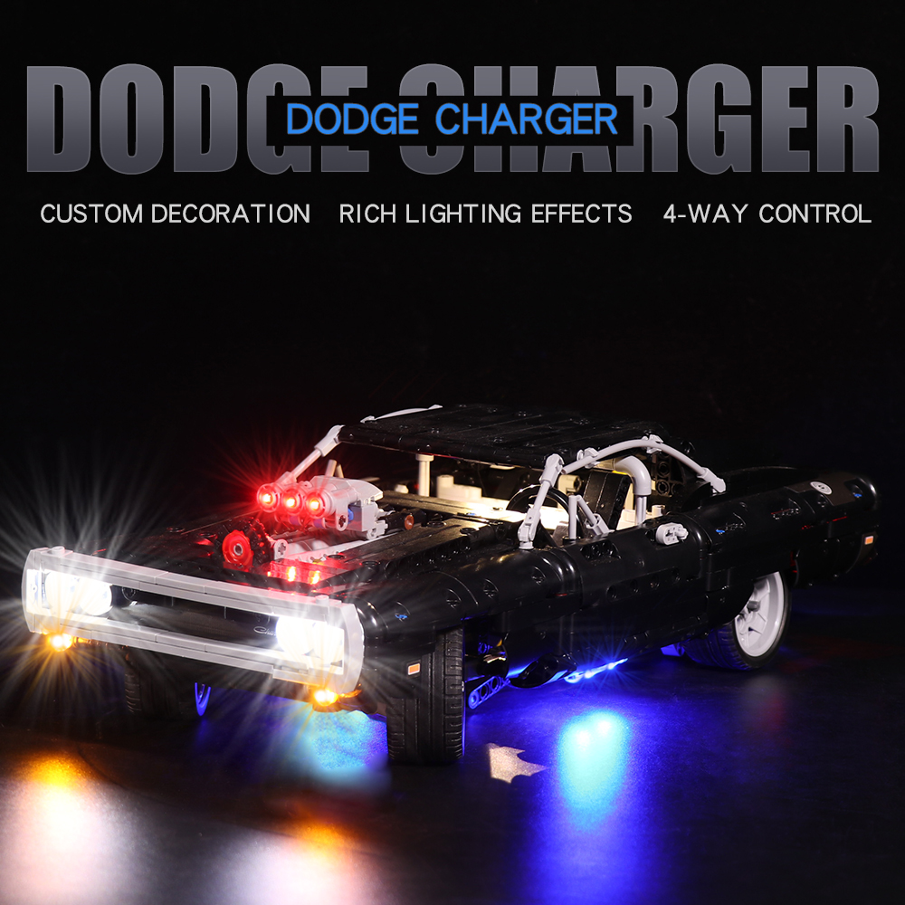 Dom's Dodge Charger # Light Kit for 42111