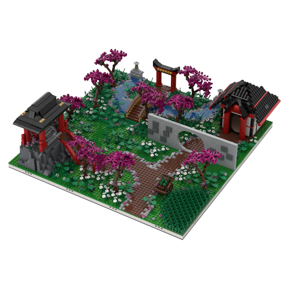 MOC-38833 Chinese Diorama | Build from 4 MOCs