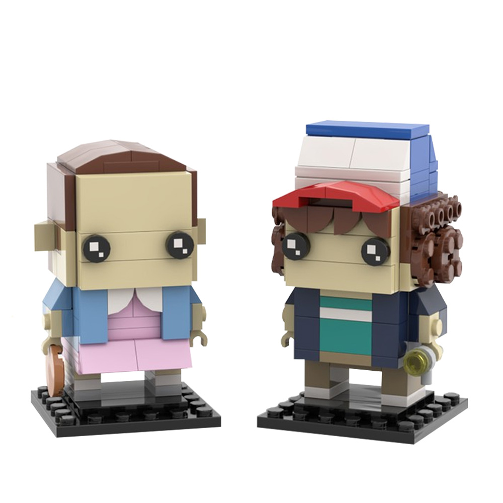 MOC-26518 Stranger Things Brickheadz Collection - Dustin & Eleven