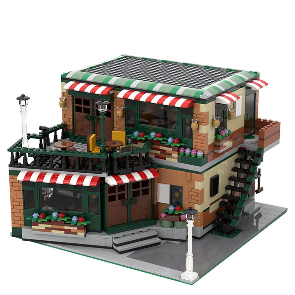 MOC-54894 Modular Central Perk Cafe & Pub Alternative Build of LEGO Set 21319-1