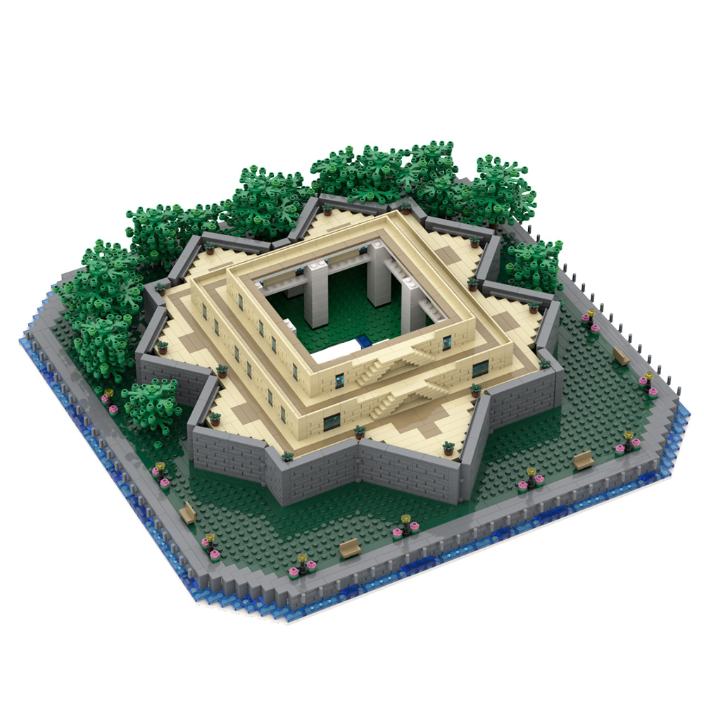 MOC-49317 Statue of Liberty Base - Only the Base