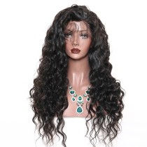 Loose Deep Wave Wig Natural Color Human Hair With Baby Hair