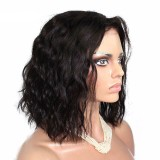 Wave Lace Front Bob Wig 150% Density Natural Color Human Hair With Baby Hair