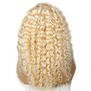 613 Curly Lace Front Wig Human Hair 150% Density