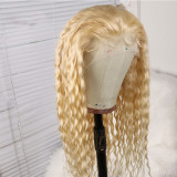 613 Water Wave Lace Front Wig Human Hair 130% Density