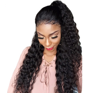 13*6 Lace Front Wig Deep Wave Natural Color Human Hair 100% Virgin Hair For Black Women