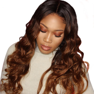 1b/30 Body Wave Human Hair Wigs With Baby Hair Straight