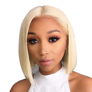 13*6 Lace Front Wig Bob 613 Color  Straight 100% Human Hair