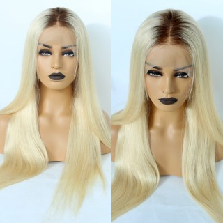 4/613 Human Hair 13*4 Lace Wigs Straight Body Wave 150% Density