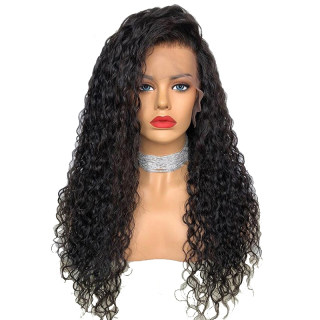 Transparent Human Hair Wig Curly For Black Women Natural Color