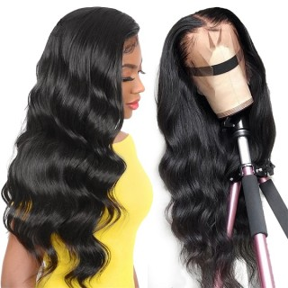 Body Wave 13x4 Lace Front Wigs Natural Color  Human Hair Wigs 150% Density