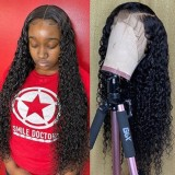 13x4 Lace Front Wig Deep Wave Style Natural Color 150% Density 100% Human Hair Wigs