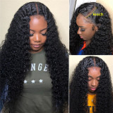 13X6 Lace Front Wig Curly Human Hair 150% Density Medium Cap Size
