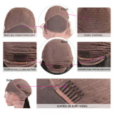 13x4 Lace Front Wig Straight Style Human Hair 150% Density Medium Cap Size