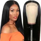 Straight  4x4 Lace Closure Wig 100% Human Hair Wigs 150% Density Medium Cap Size