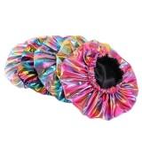 Glitter Rainbow Bonnet for Black Women Double layer