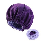 Pure Color Bonnet for Black Women Double Layer