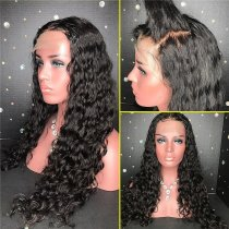 Loose Curly Lace Front Wigs Glueless Human Hair Natural Color With Baby Hair