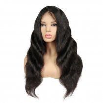 Body Wave Lace Wigs Silk Top Peruvian Virgin Human Hair Wigs Natural Color 130% Density
