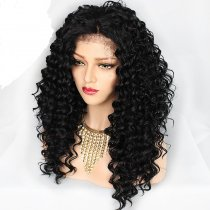 Loose Deep Wave Full Lace Wig Natural Color Human Hair For Black Women With Baby Hair