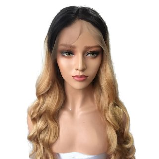 Brazilian Ombre 1b 27 Color loose Wave Full Lace Human Hair Wigs With Baby Hair Natural Hairline