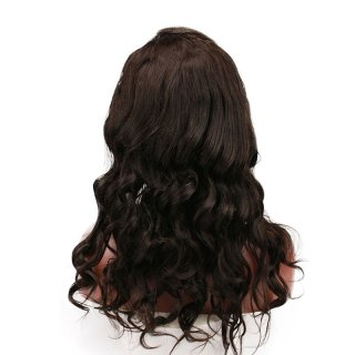 13x4 Lace Front Wig Wave Brazilian Human Remy Hair Pre Plucked For Black Women Natural Color