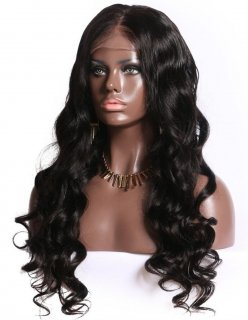 Ocean Wave Lace Front Wig Brazilian Wig Real Human Hair Natural Color