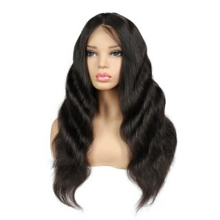 Loose Body Wave Human Hair Wigs  Natural Color For Black Women