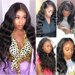 13*4 Lace Front Wig Body Wave  Natural Color Human Hair Brazilian for Black Women