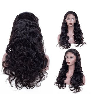 Full Lace Wig Body Wave Brazilian Hair 100% Human Hair Natural Color