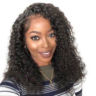 Curly Bob Lace Front Human Hair Wigs For Black Women 150 Density Brazilian Pre Pluck with Bleached Knots
