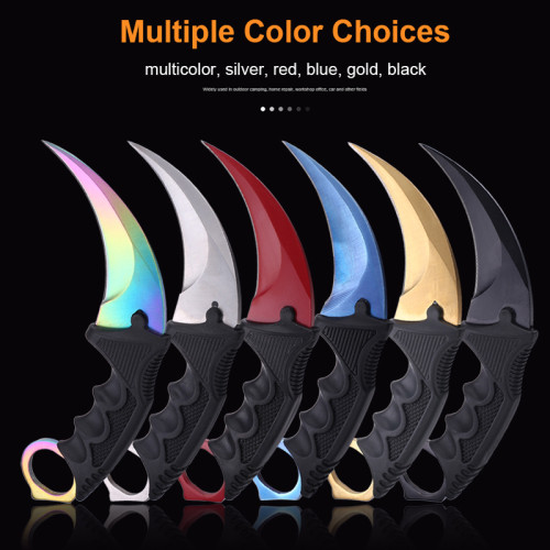 Fixed Blade Knife CS GO Counter Strike Tactical Claw Karambit Knife